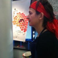 L'artiste au bandeau rouge