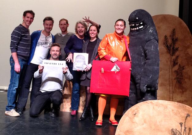 """""""Ogre, cacatoès et chocolat"""", l'équipe du spectacle (oct. 2013)"""