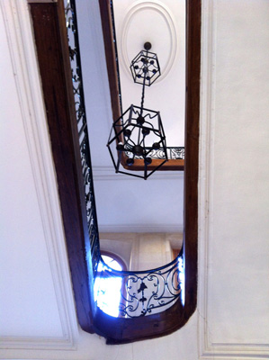 Escalier d'un hôtel particulier, rue du Temple, Paris.