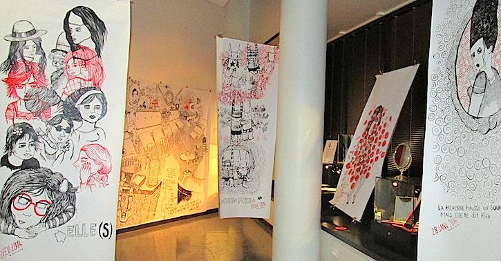Expo Au cœur du Palais, les toiles