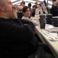 Limoges, rare moment de pause chez les U4 (avec Florence Hinckel et Vincent Villeminot)