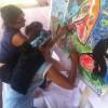 L'ogre dessiné par Carole, colorié par les enfants et… Lolo.