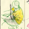 Souvenirs… croquis de Carole Chaix, sur le chemin de Mafate.