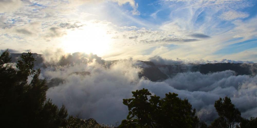 Photo nuages au-dessus de Mafate.