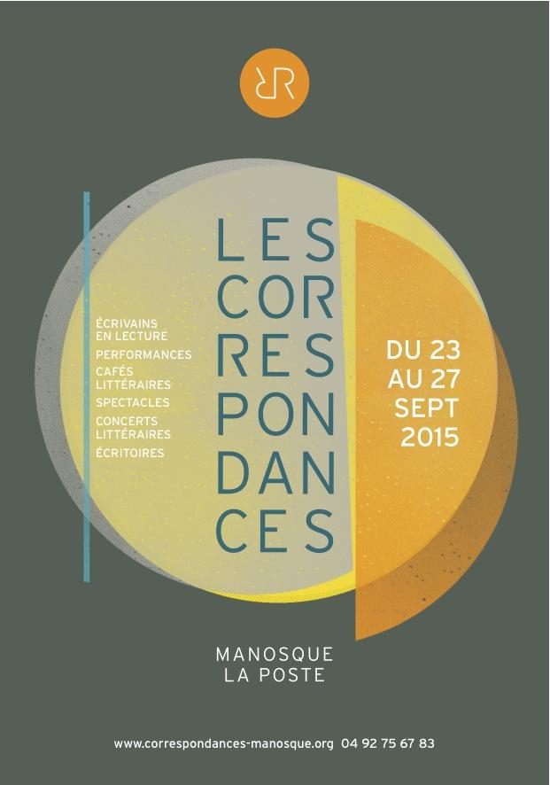 Affiche des Correspondances de Manosque 2015
