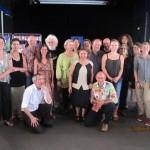 La troupe du salon de Tulle 2015: des organisateurs, des libraires, des auteurs, des illustrateurs et un éditeur.