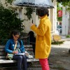 Parapluie de soleil, incongruité.
