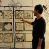 Nomades, une résidence et des ateliers partagés, ici avec Cyrille Pomès.