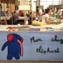 Grateloup, un stand de dédicace couleur éléphant