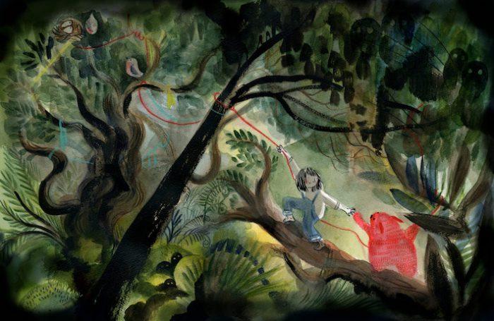 Hector dans la forêt